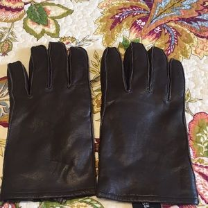 Accessories - Men's brown leather gloves